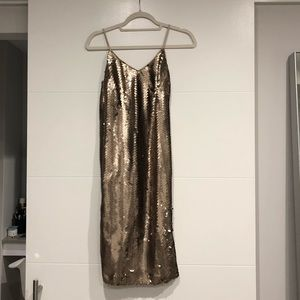 J. Crew Sequin Midi Slip Dress